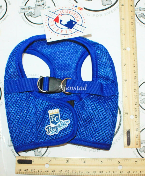 KANSAS CITY ROYALS MLB BASEBALL TEAM PET VEST DOG HARNESS SMALL MEDIUM NEW - EZ Monster Deals