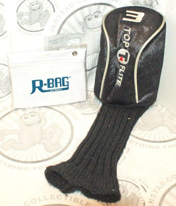 TOP FLITE WOOD CLUB #3 BLACK COVER GOLF HEADCOVER & RBAG POUCH ACCESSORY - EZ Monster Deals