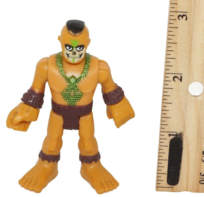 "TRIBAL CAVE MAN IMAGINEXT 2.75"" TOY FIGURE FISHER PRICE ULTRA T-REX PIECE USED - EZ Monster Deals"