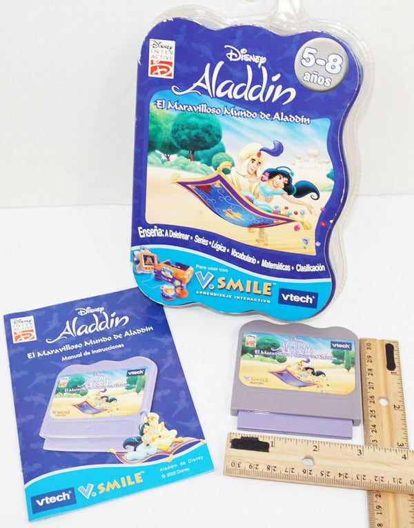 SPANISH VERSION - ALADDIN DISNEY FOR VTECH V.SMILE EDUCATIONAL GAME CARTRIDGE