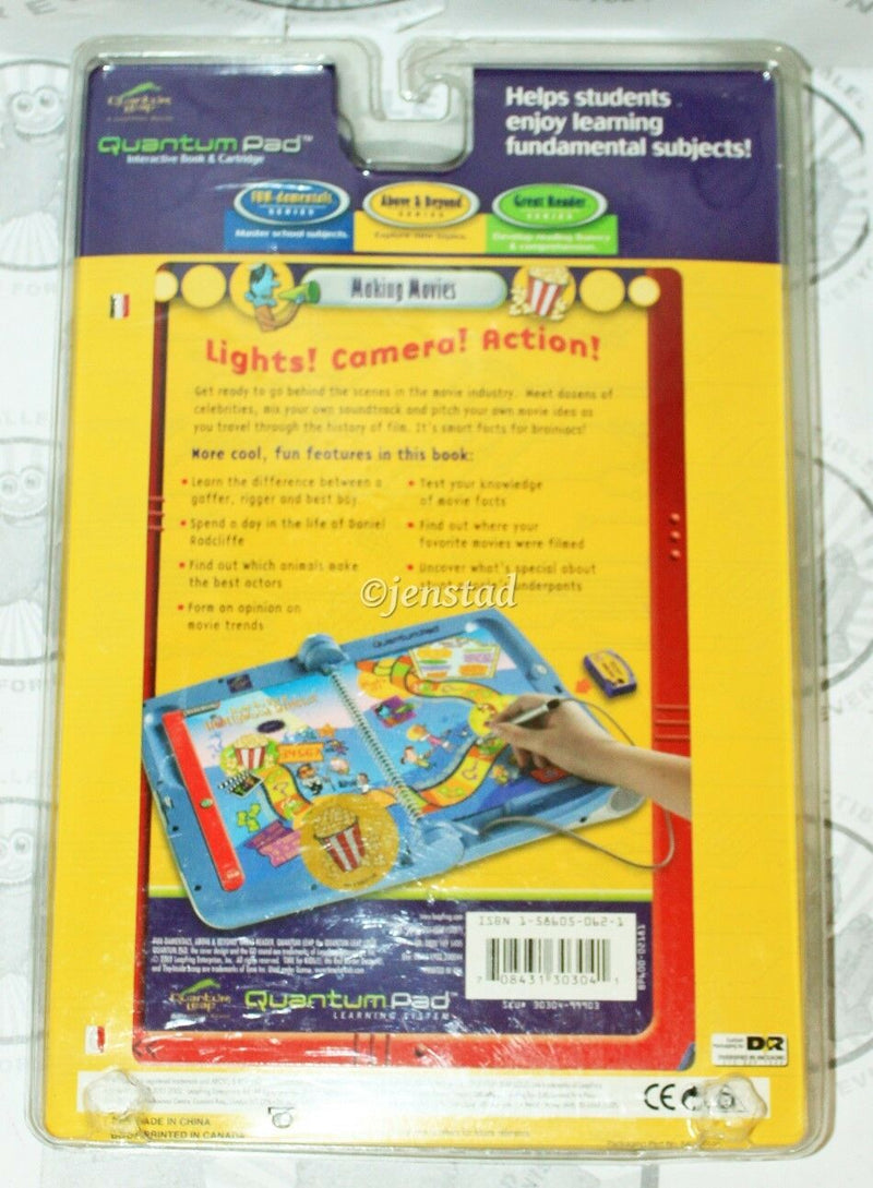 HARRY POTTER QUANTUM PAD THE INSIDE SCOOP MAKING MOVIES LEAPPAD BOOK & CARTRIDGE