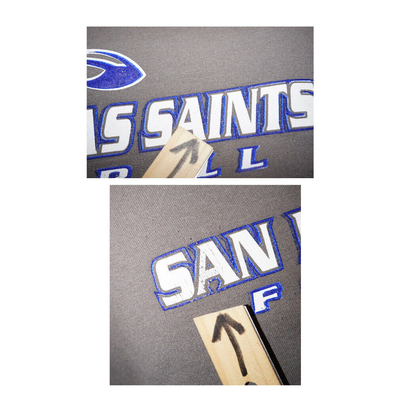 San Dimas Saints California High School Football - Hoodie Grey Sweatshirt Large