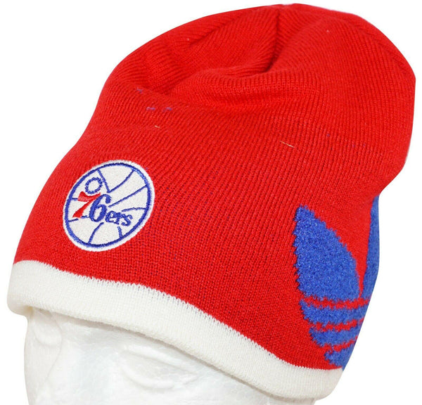 ADIDAS PHILADELPHIA 76ERS - RED BEANIE CAP NBA BASKETBALL 2014 NEW - EZ Monster Deals