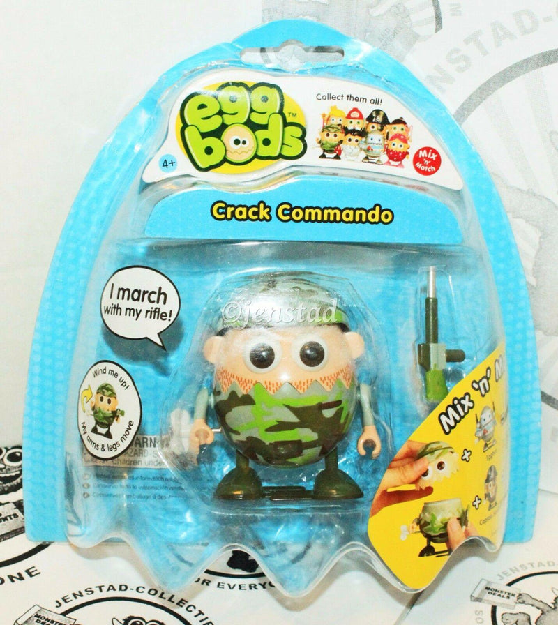 "EGGBODS CRACK COMMANDO - WIND-UP & WALKING TOY 3"" EGG FIGURE 2011 NEW - EZ Monster Deals"