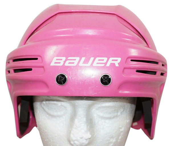 "BAUER ICE HOCKEY PINK SR HELMET BHH2100M - ADULT SENIOR MEDIUM 21.2""-23"" USED - EZ Monster Deals"