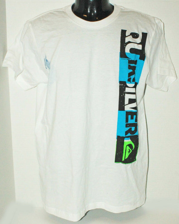 QUIKSILVER BRAND - KIDS TSHIRT APPAREL WHITE LOGO SHIRT YOUTH OR FITS WOMEN XL - EZ Monster Deals
