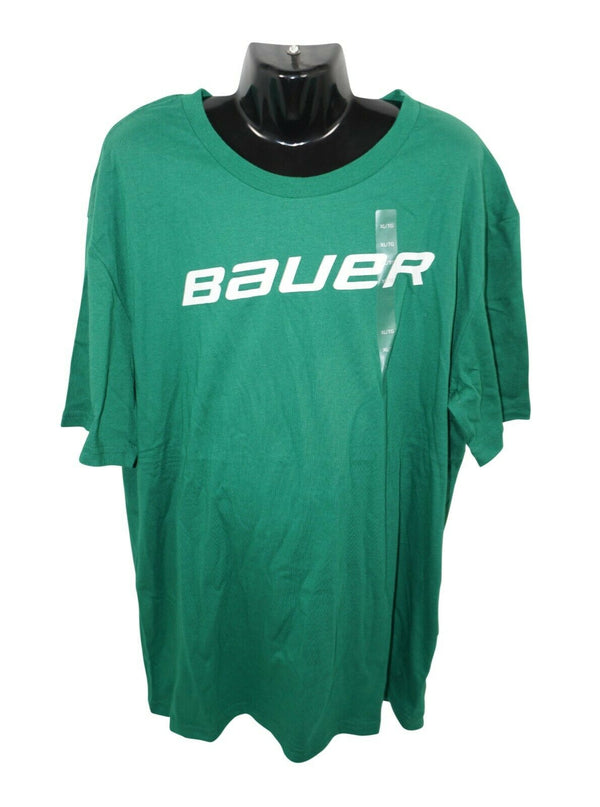 BAUER HOCKEY LOGO'D CORE TEE - GREEN XL SHIRT YOUTH KIDS XLARGE NEW - EZ Monster Deals