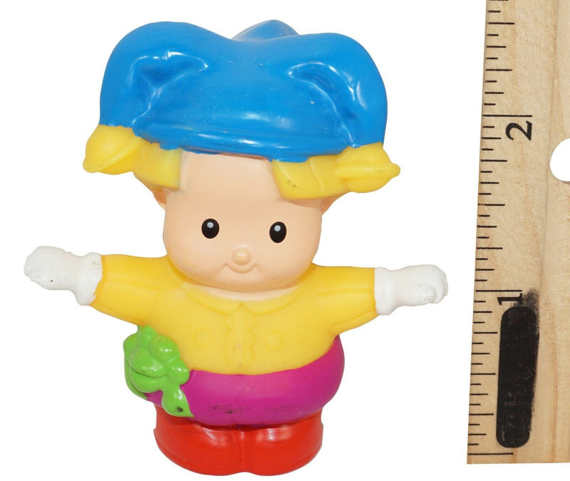 "GIRL JESTER LITTLE PEOPLE - FISHER PRICE 2.25"" TOY MCD'S FIGURE MATTEL USED 2005 - EZ Monster Deals"