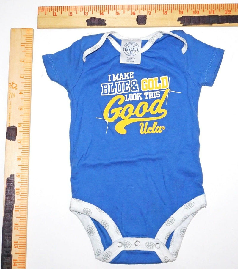 UCLA - NCAA COLLEGE UNIVERSITY ONE PIECE BABY SUIT 3-6 MTH SHORT SLEEVE USED-EZ Monster Deals