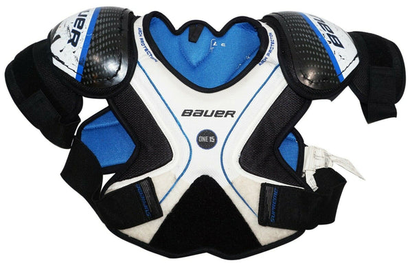 BAUER ONE15 YTH LARGE - CHEST SHOULDER PADS HOCKEY YOUTH USED