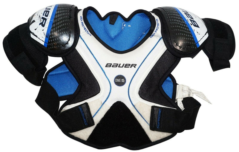 BAUER ONE15 YTH LARGE - CHEST SHOULDER PADS HOCKEY YOUTH USED-EZ Monster Deals