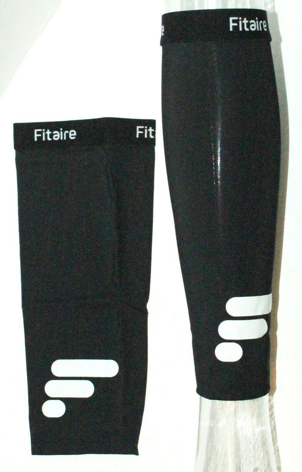 FITAIRE PREMIUM COPPER CALF COMPRESSION & SUPPORT BLACK SLEEVE ADULT MEDIUM NEW