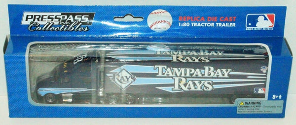 TAMPA BAY RAYS MLB BASEBALL 1:80 DIECAST SEMI TRUCK TRAILER TOY VEHICLE 2009 NEW - EZ Monster Deals