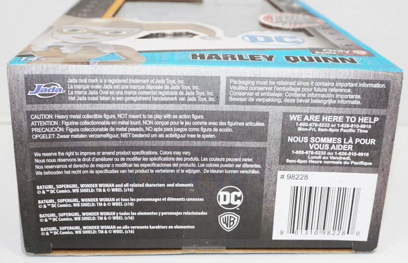 "HARLEY QUINN 4"" DIECAST - GOLD W/ SILVER TOY FIGURE METAL FIGURINE 2016 NEW - EZ Monster Deals"