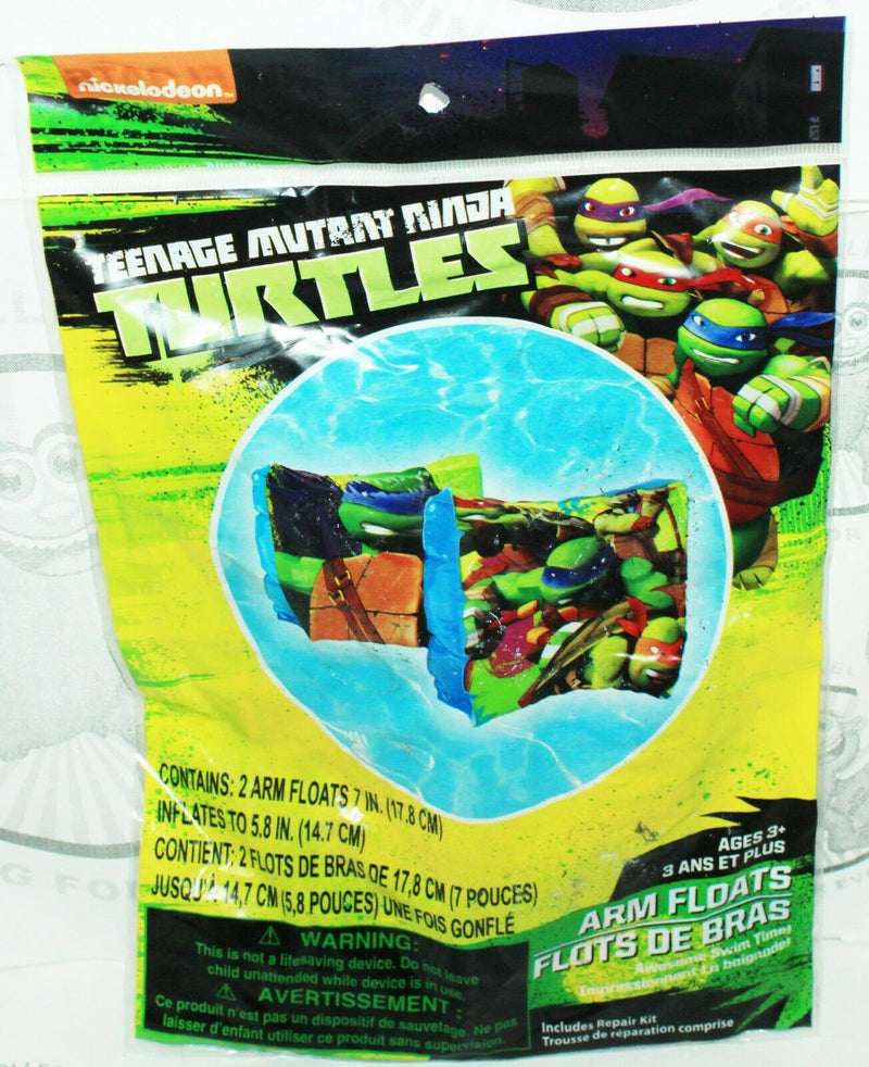 TMNT - ARM FLOATS TEENAGE MUTANT NINJA TURTLES FOR SWIM POOL WATER BEACH NEW - EZ Monster Deals