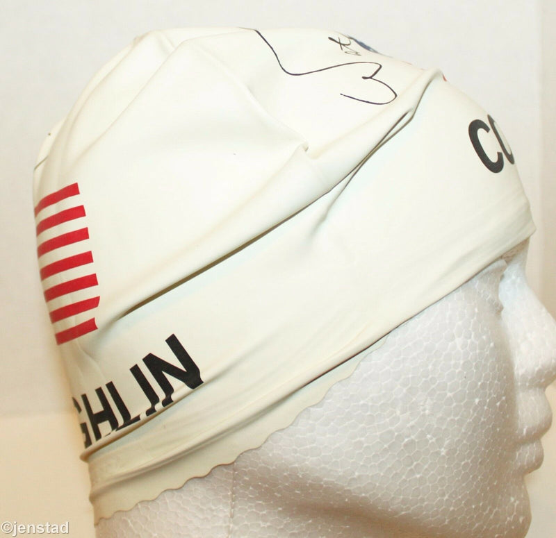 SPEEDO LATEX SWIM WHITE COUGHLIN CAP USA TEAM US FLAG UV SUN PROTECTION SWIMWEAR - EZ Monster Deals