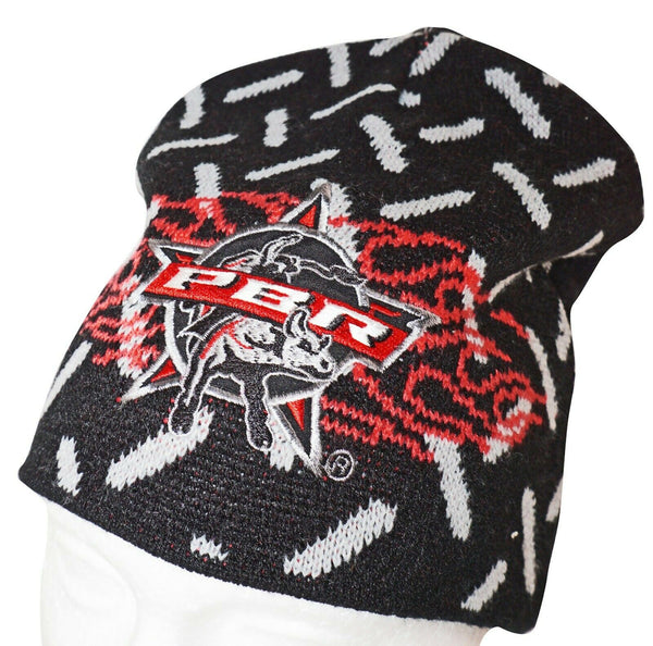 PBR PROFESSIONAL BULL RIDERS SPORT - BLACK BEANIE VINTAGE CAP ONE SIZE NEW 2005-EZ Monster Deals