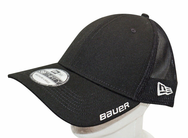 BAUER HOCKEY NEW ERA 39THIRTY ADULT HAT - STRETCH MESH BLACK MEDIUM LARGE 2018-EZ Monster Deals