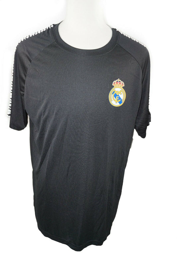 Real Madrid C.F. Soccer Shirt - European Football Black T-Shirt Mens Large 2019