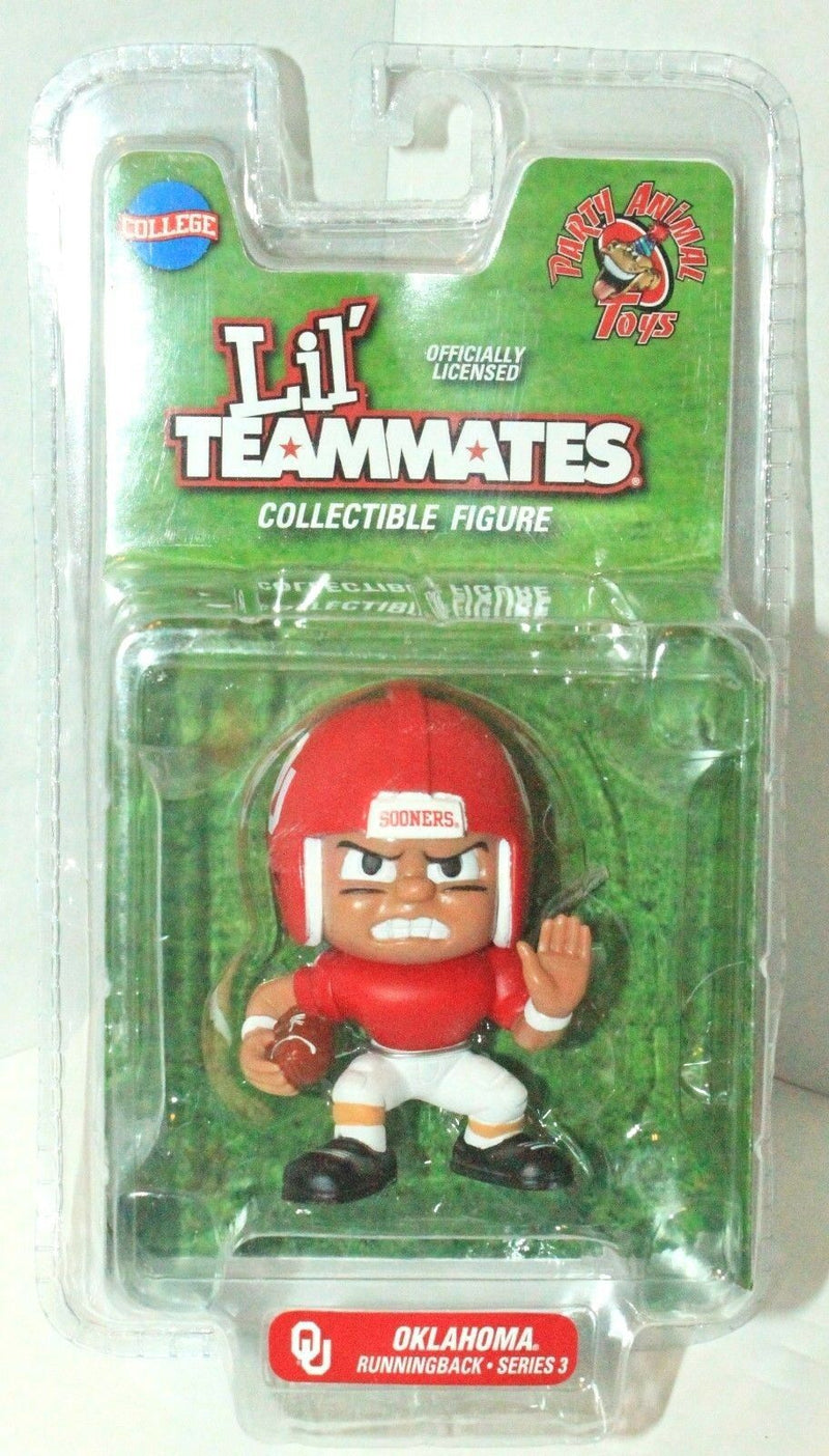 "OKLAHOMA SOONER RUNNING BACK TOY 2.5"" FIGURE LIL TEAMMATES NCAA COLLEGE FOOTBALL-EZ Monster Deals"