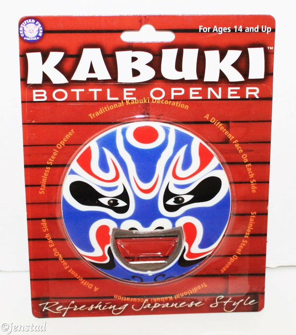 KABUKI FACE BLUE MASK #1 BOTTLE OPENER POP TOP STAINLESS STEEL BEER SODA 2009-EZ Monster Deals