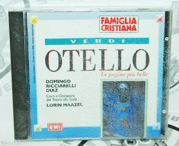 VERDI OTELLO LIBRETTO ARRIGO BOITO FAMIGLIA CRISTIANA MUSIC CD ITALIAN VERSION - EZ Monster Deals
