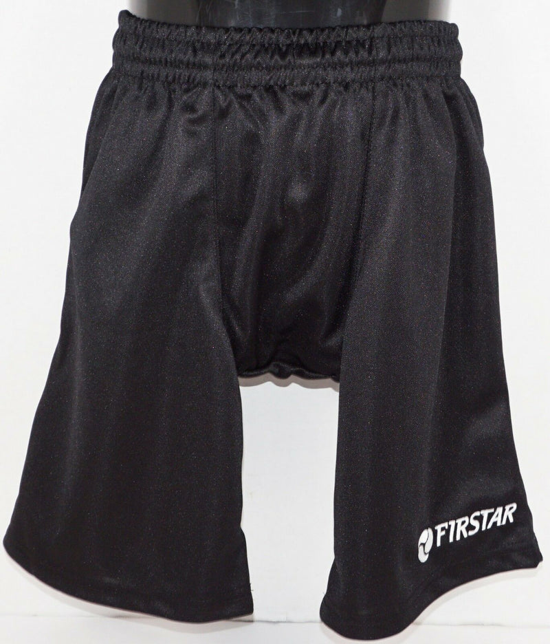 "FIRSTAR YOUTH SMALL - LIGHTWEIGHT BLACK YS HOCKEY SHORTS 23.5""-24.5"" NEW"