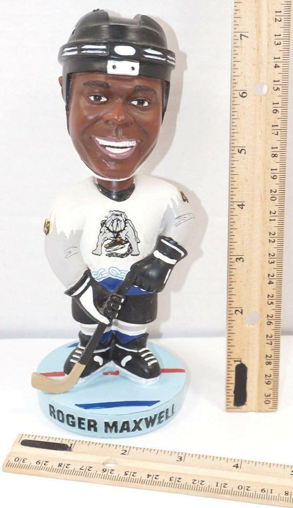 ROGER MAXWELL - BOBBLEHEAD LONG BEACH ICE DOGS MINOR LEAGUE HOCKEY USED - EZ Monster Deals