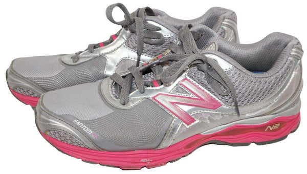 10.5 B - NEW BALANCE WOMENS 1765 WALKING GREY PINK SHOES 10.5B MEDIUM USED