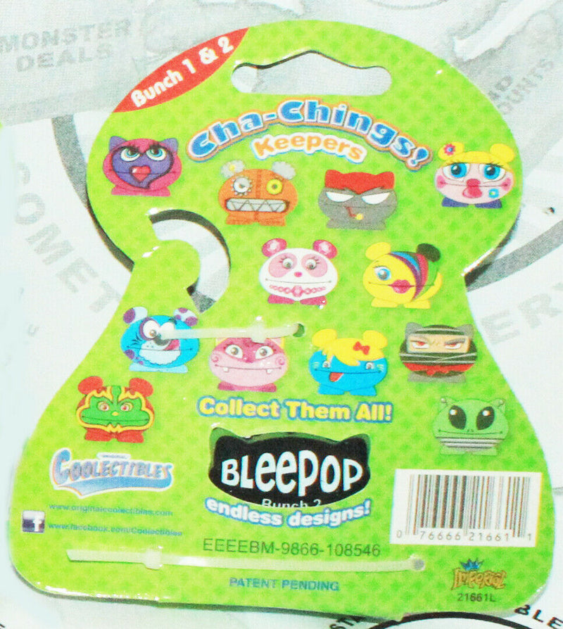 BLEEPOP KEEPER CHA-CHING - BUNCH 2 VINYL TOY COLLECTIBLE KEYCHAIN CLIP 2011-EZ Monster Deals