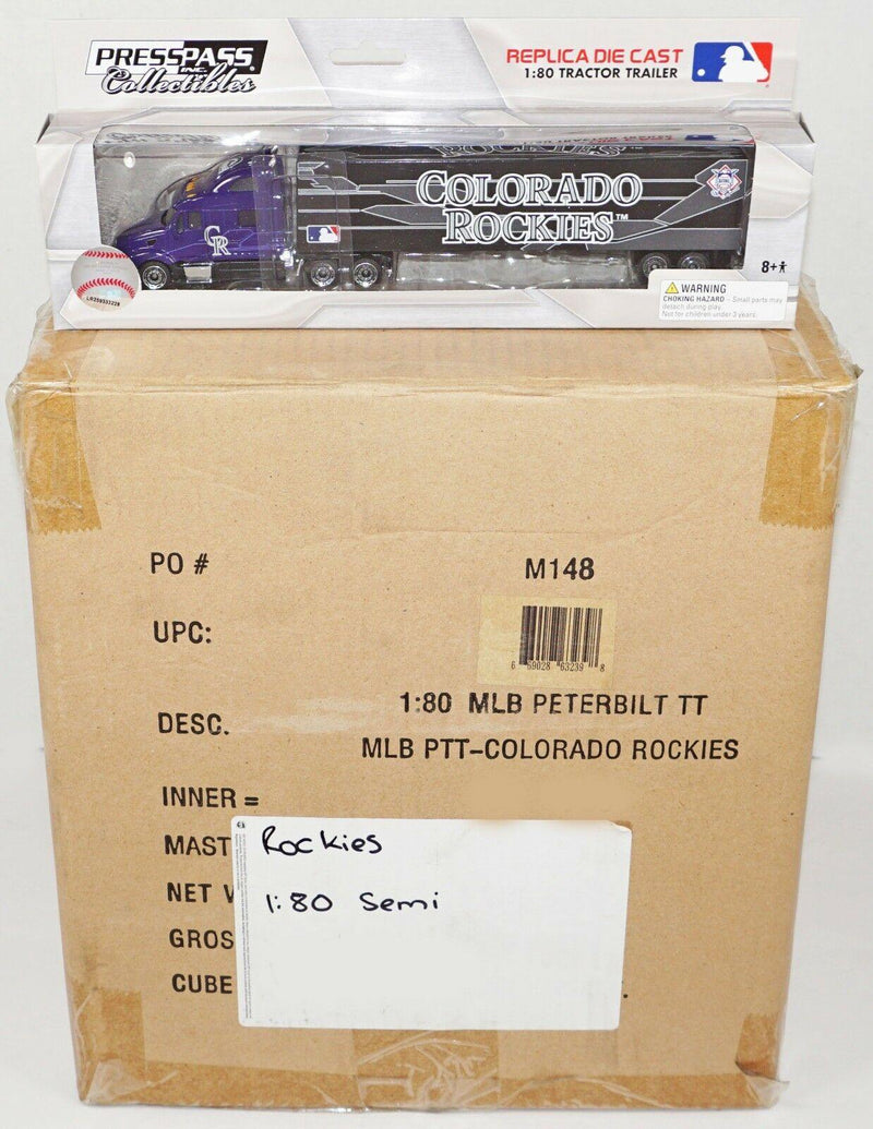 24 PCS - ONE CASE COLORADO ROCKIES MLB BASEBALL 1:80 DIECAST TRUCK TOY 2012 NEW - EZ Monster Deals