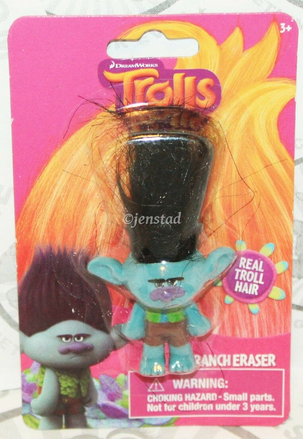 "BRANCH PARANOID DISGRUNTLED SURVIVALIST TROLLS DREAMWORKS TOY ERASER 1.5"" FIGURE-EZ Monster Deals"