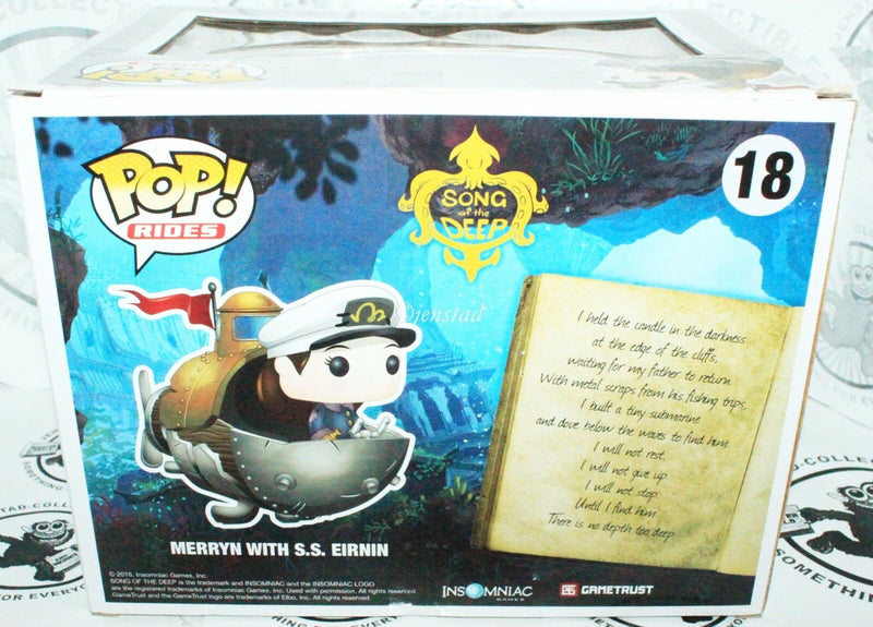 SONG OF THE DEEP MERYN SS EIRNIN POP RIDES FUNKO TOY FIGURE FROM VIDEO GAME NEW - EZ Monster Deals