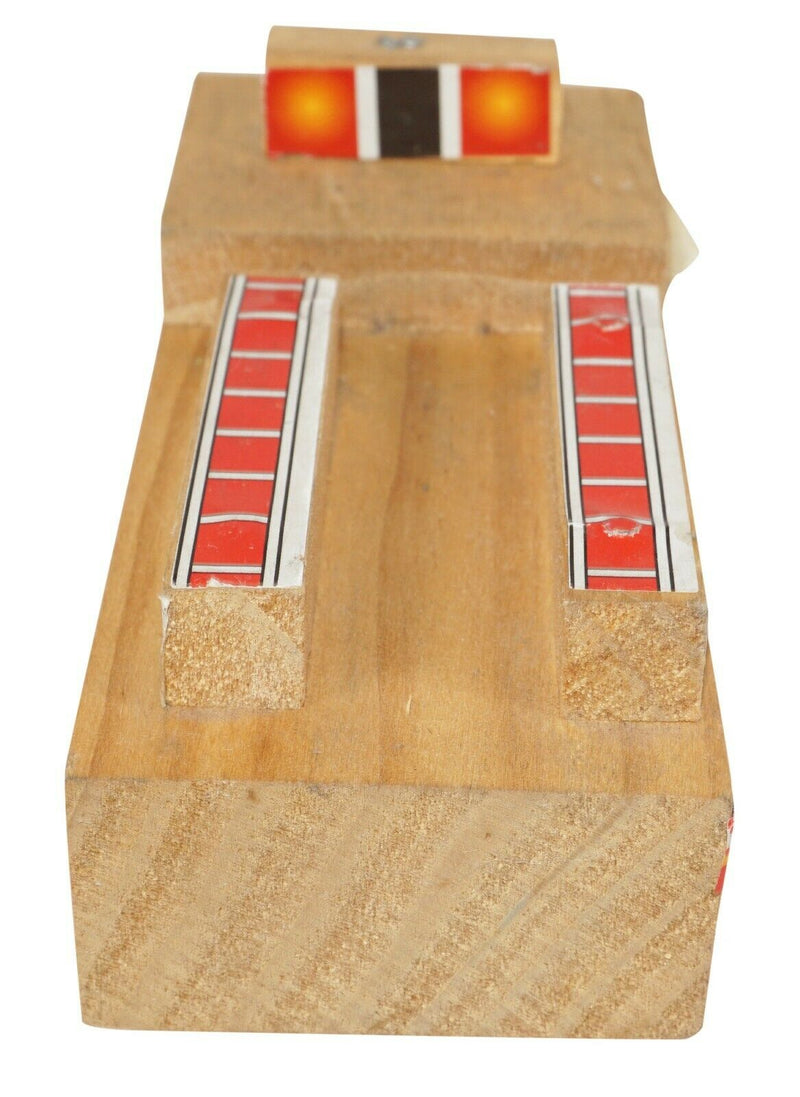 "FIRE TRUCK THD 5.25"" WOOD VEHICLE - HOME DEPOT ROLLING WOODEN TOY VEHICLE USED - EZ Monster Deals"