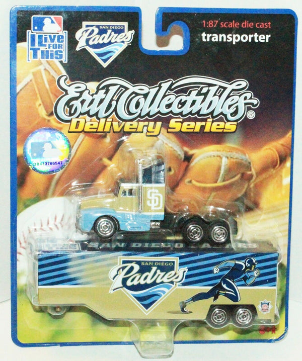 SAN DIEGO PADRES MLB BASEBALL 1:87 DIECAST - TRUCK TRAILER TOY VEHICLE 2006 NEW - EZ Monster Deals
