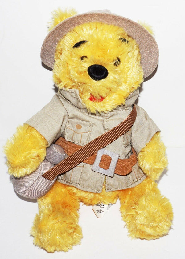 "DISNEYLAND WALT DISNEY WORLD SAFARI WINNIE THE POOH 9"" TOY BEAN BAG PLUSH FIGURE - EZ Monster Deals"