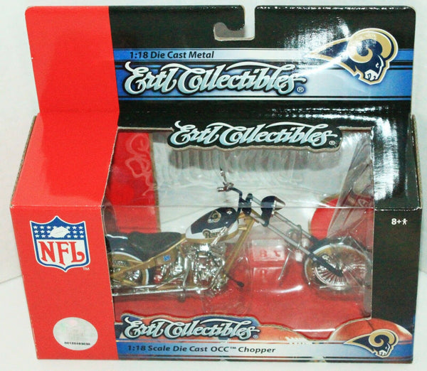Rams NFL Football 1:18 OCC Chopper - Toy Diecast Motorcycle Ertl New 2006