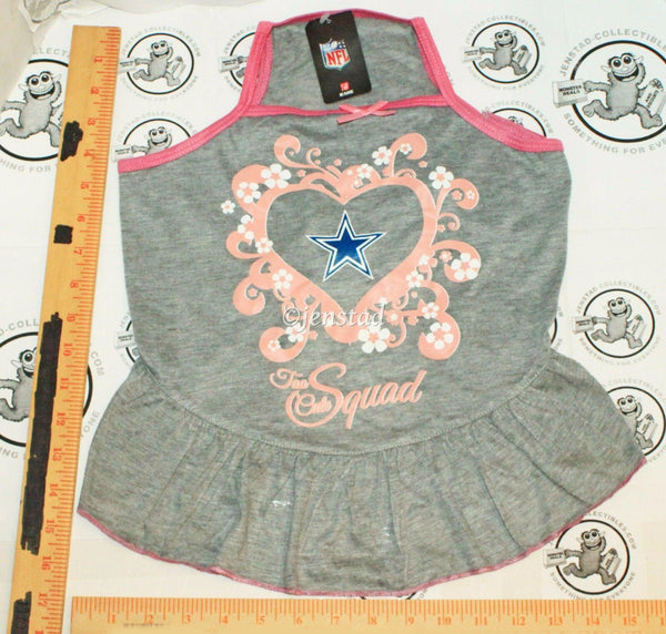 DALLAS COWBOYS NFL DOG L - PET SQUAD JERSEY TEE HEART PINK GRAY DRESS LARGE 2015 - EZ Monster Deals