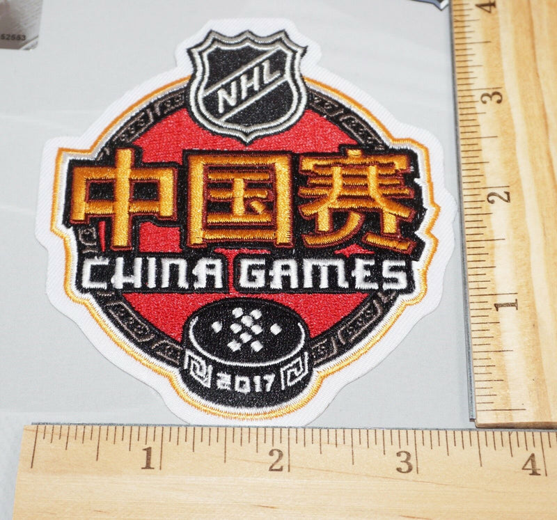 "NHL CHINA GAMES 4"" PATCH 2017 NATIONAL HOCKEY LEAGUE AUTHENTIC NEW - U.S. SELLER"