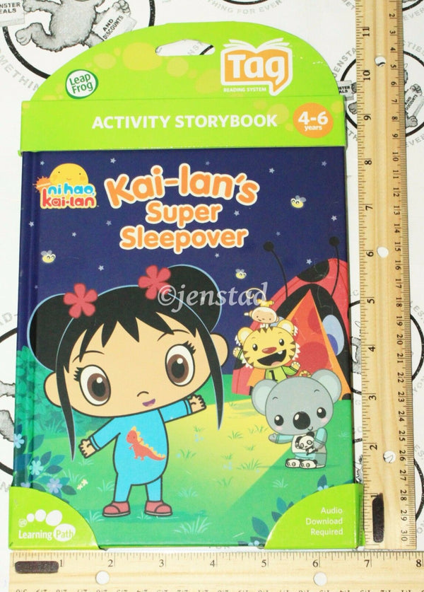 NI HAO KAI-LAN'S SUPER SLEEPOVER - LEAPFROG TAG ACTIVITY STORY BOOK NEW