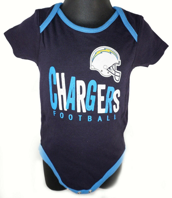 LOS ANGELES LA CHARGERS BABY SUIT NFL 1-PC DARK BLUE OUTFIT FOOTBALL 24 MTH NEW - EZ Monster Deals