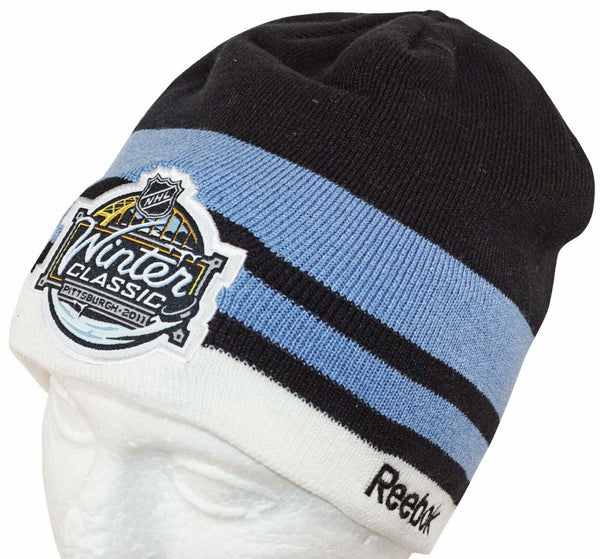 NHL WINTER CLASSIC HOCKEY KNIT BEANIE HAT CAP - PENGUINS CAPITALS 2011 NO CUFF-EZ Monster Deals