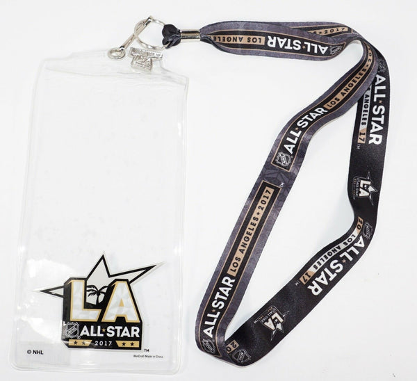 NHL LOS ANGELES LA ALL-STAR GAME - LANYARD W TICKET HOLDER & PIN 2017 NEW-EZ Monster Deals
