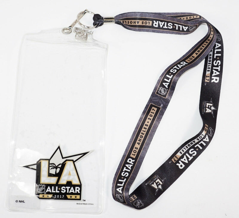 NHL LOS ANGELES LA ALL-STAR GAME - LANYARD W TICKET HOLDER  & PIN 2017 NEW