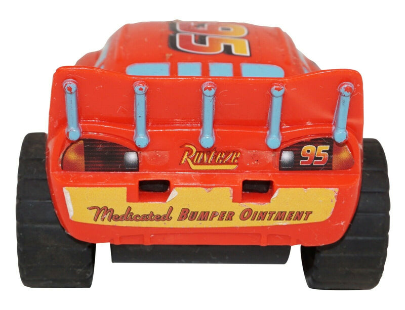 "LIGHTNING MCQUEEN FROM DISNEY PIXAR CARS - TOY PULL BACK 3"" FIGURE USED - EZ Monster Deals"