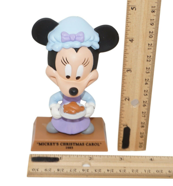 "Disney Minnie Mouse Mrs Bob Cratchit Christmas Carol 4.25"" Figure Upper Deck Toy"