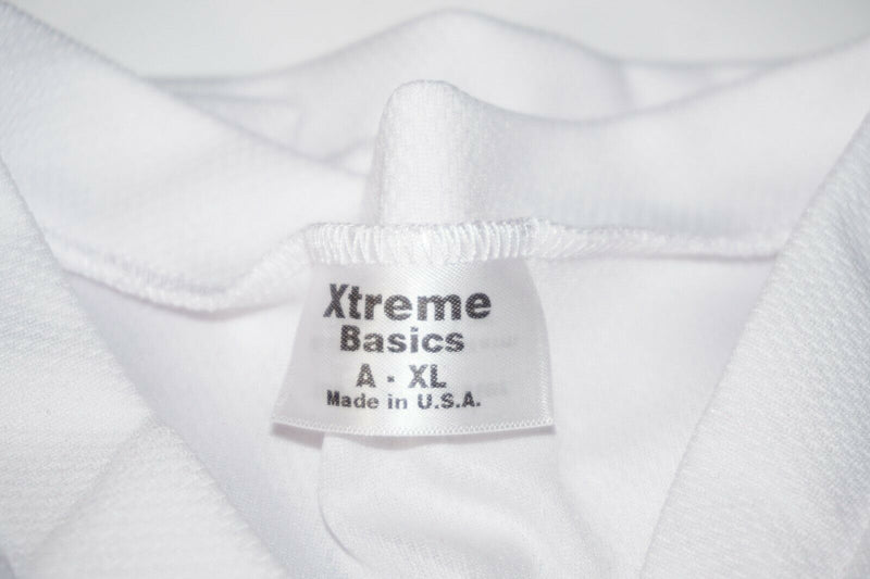 XTREME BASICS SR XL HOCKEY WHITE JERSEY - ADULT XLARGE ICE OR ROLLER USED - EZ Monster Deals
