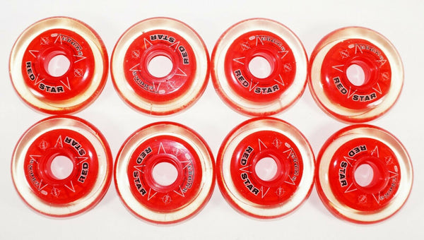 ONE PACK - 8 RED STAR SNIPER GT INDOOR INLINE ROLLER 72MM 74A HOCKEY WHEELS NEW