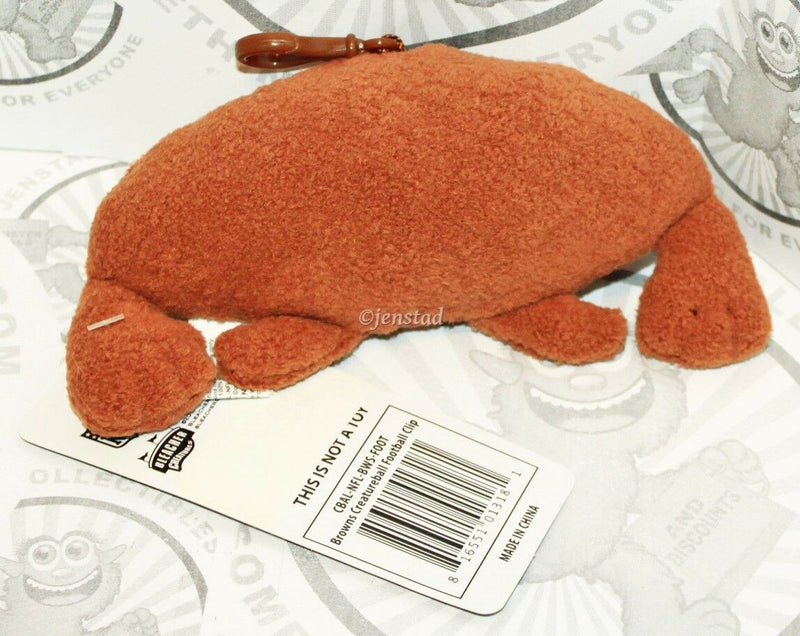 "CLEVELAND BROWNS CREATURE NFL PLUSH TOY 4"" FIGURE BALL BACKPACK CLIP 2013 NEW-EZ Monster Deals"