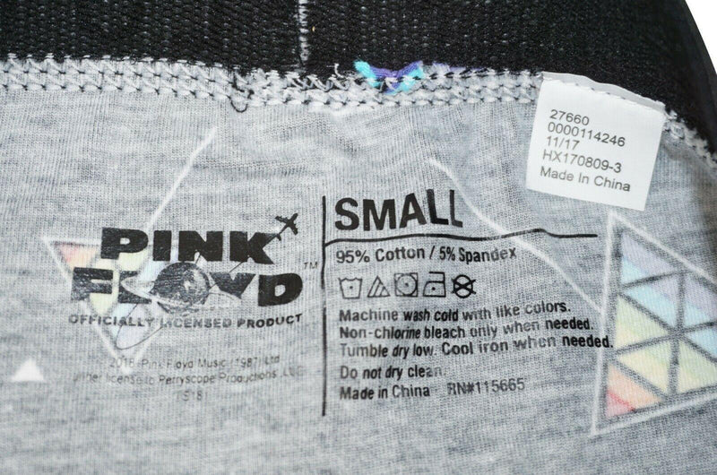 PINK FLOYD ROCK BAND MENS UNDERWEAR SMALL - PYRAMID LOGO BOXER BRIEF S BLACK NEW - EZ Monster Deals